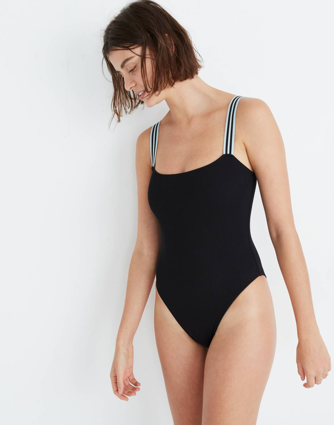 Solid & Striped® Riley One-Piece Swimsuit in black image 1