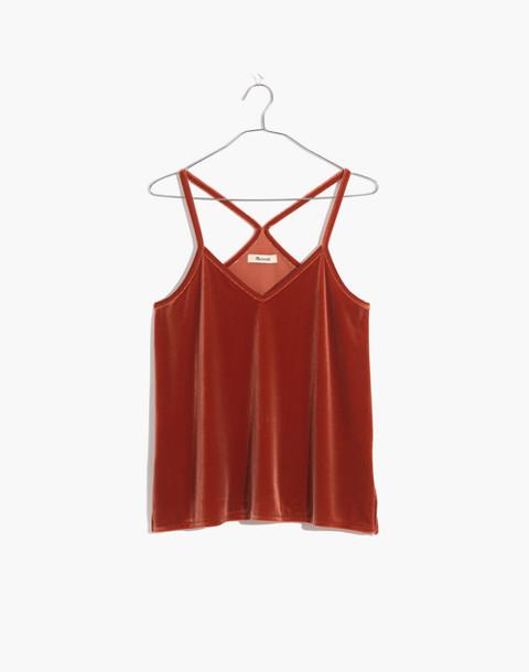 Velvet Pajama Cami Top in dark cinnabar image 4