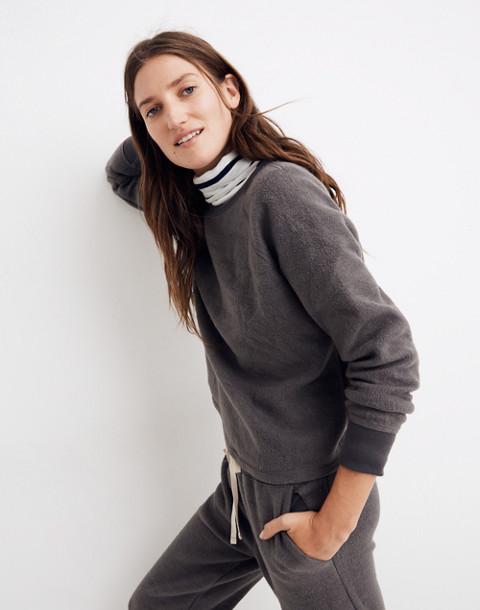 Fleece Pajama Sweatshirt in dark metal image 2