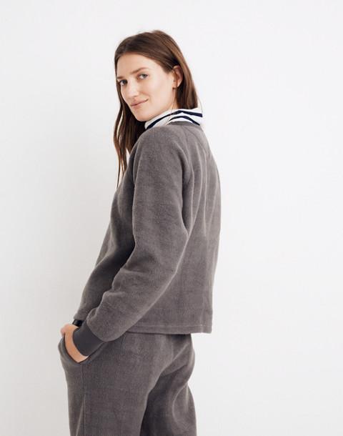 Fleece Pajama Sweatshirt in dark metal image 3