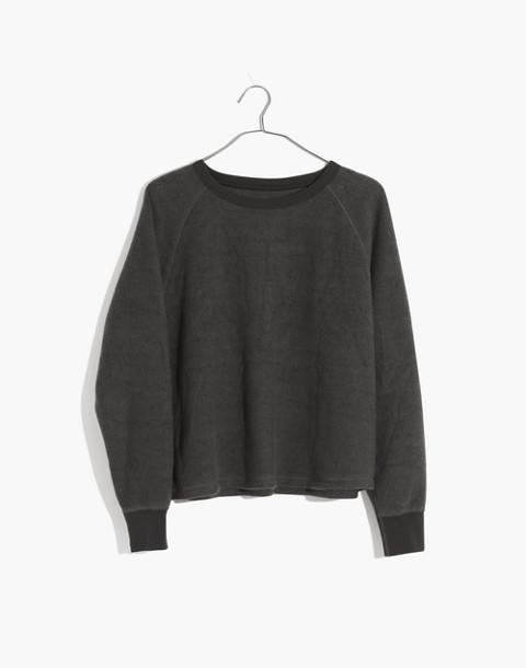Fleece Pajama Sweatshirt in dark metal image 4