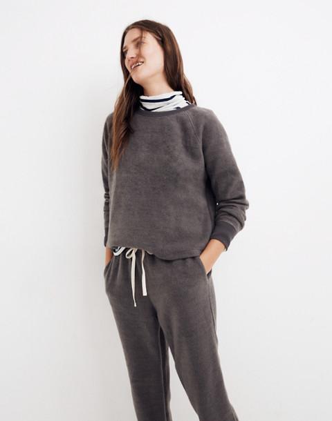 Fleece Pajama Sweatshirt in dark metal image 1