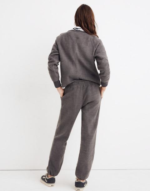 Fleece Pajama Sweatpants in dark metal image 3