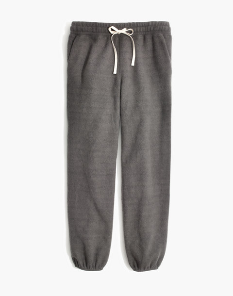 Fleece Pajama Sweatpants in dark metal image 4