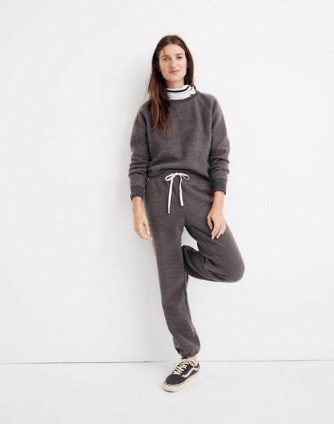 Fleece Pajama Sweatpants in dark metal image 1