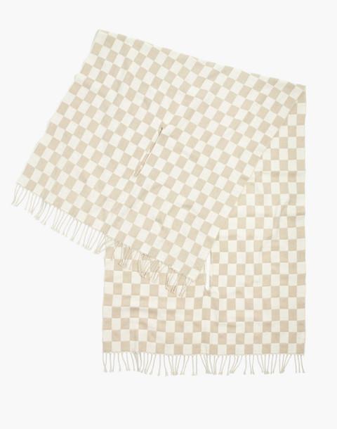 Checkerboard Cape Scarf in steel multi image 2