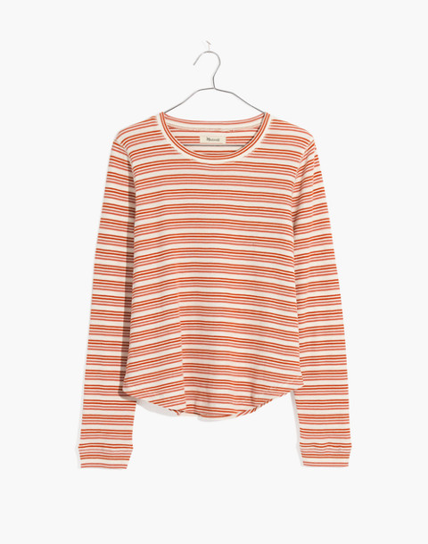 Honeycomb Pajama Tee in Kasson Stripe in pearl ivory flamingo stripe image 4