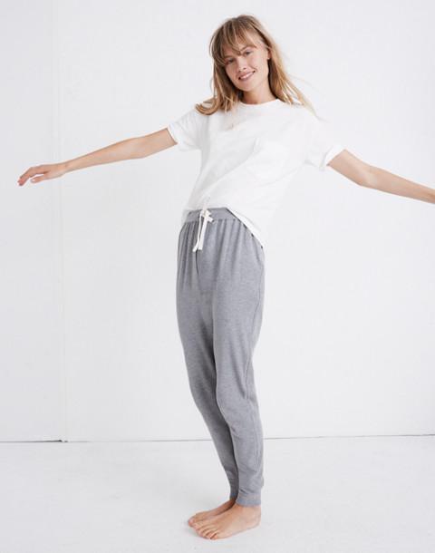 Honeycomb Pajama Sweatpants in hthr pepper image 2