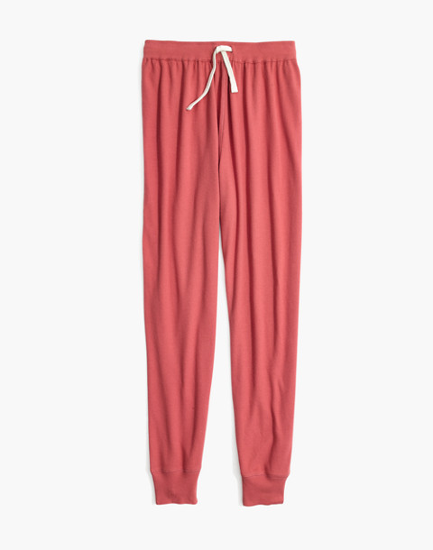Honeycomb Pajama Sweatpants in faded red image 4