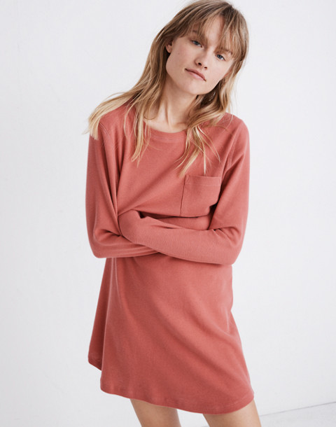 Honeycomb Pajama Dress in faded red image 2