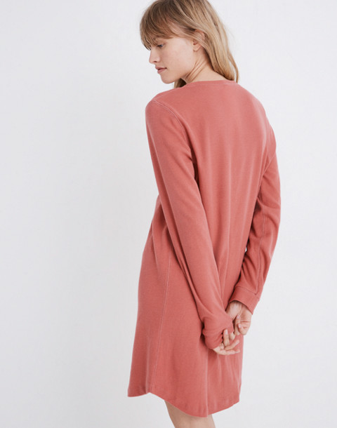 Honeycomb Pajama Dress in faded red image 3