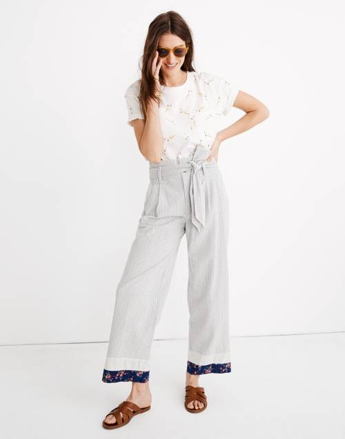 Madewell X The New Denim Project® Patchwork Paperbag Pants by Madewell
