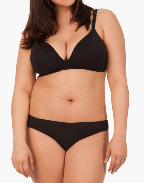 LIVELY™ All-Day Deep-V No-Wire Bra in black image 1