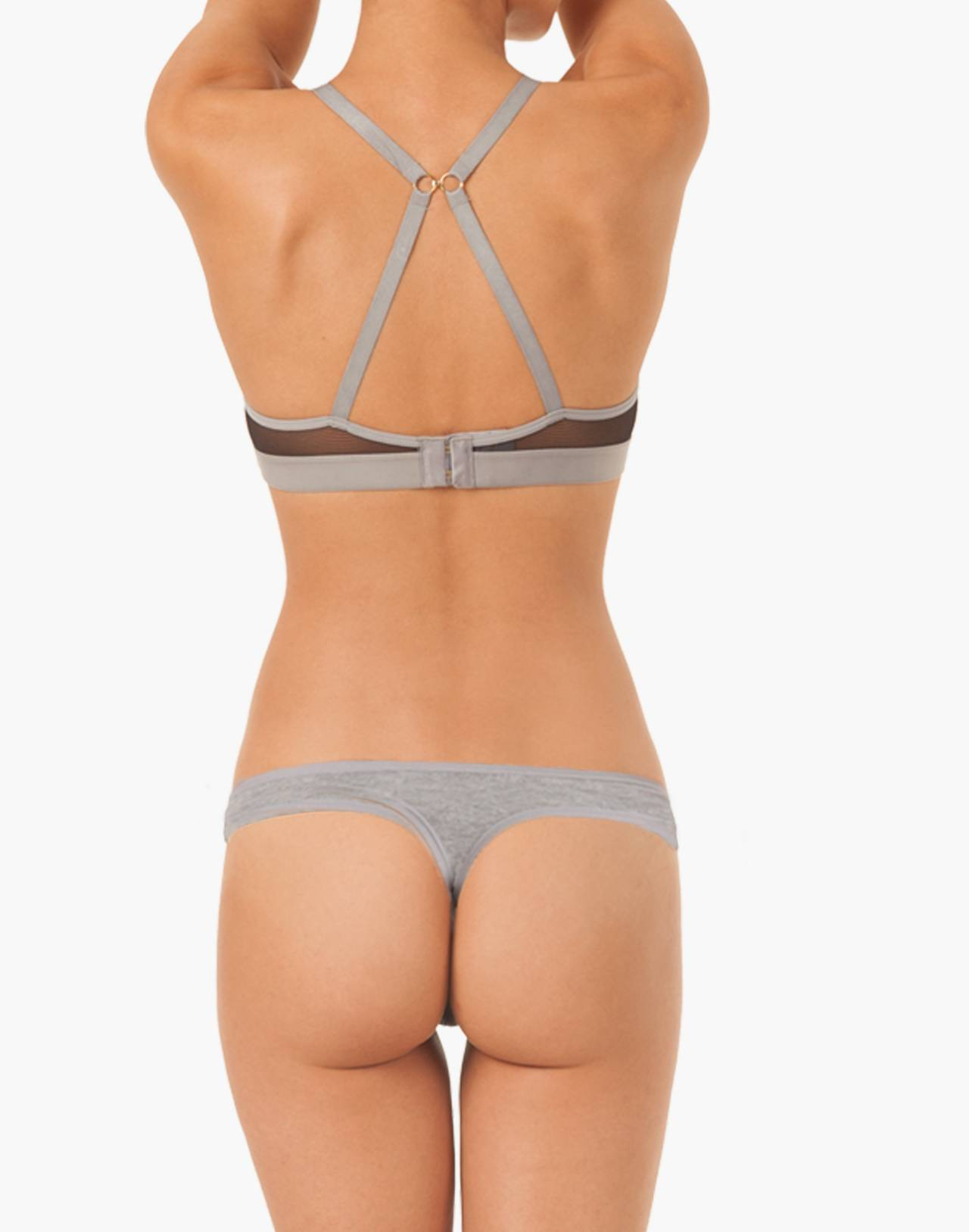 LIVELY™ All-Day Deep-V No-Wire Bra in gray image 2