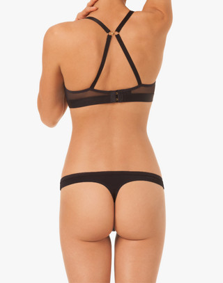 LIVELY™ All-Day Thong in Jet Black