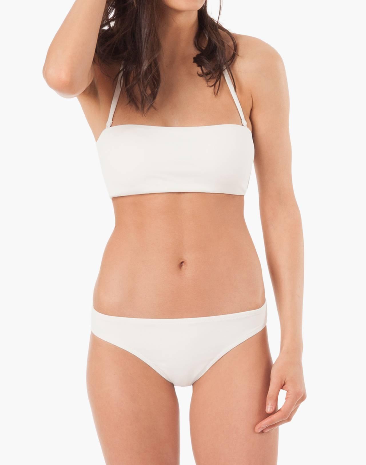 LIVELY™ Bandeau Bikini Top in white image 1