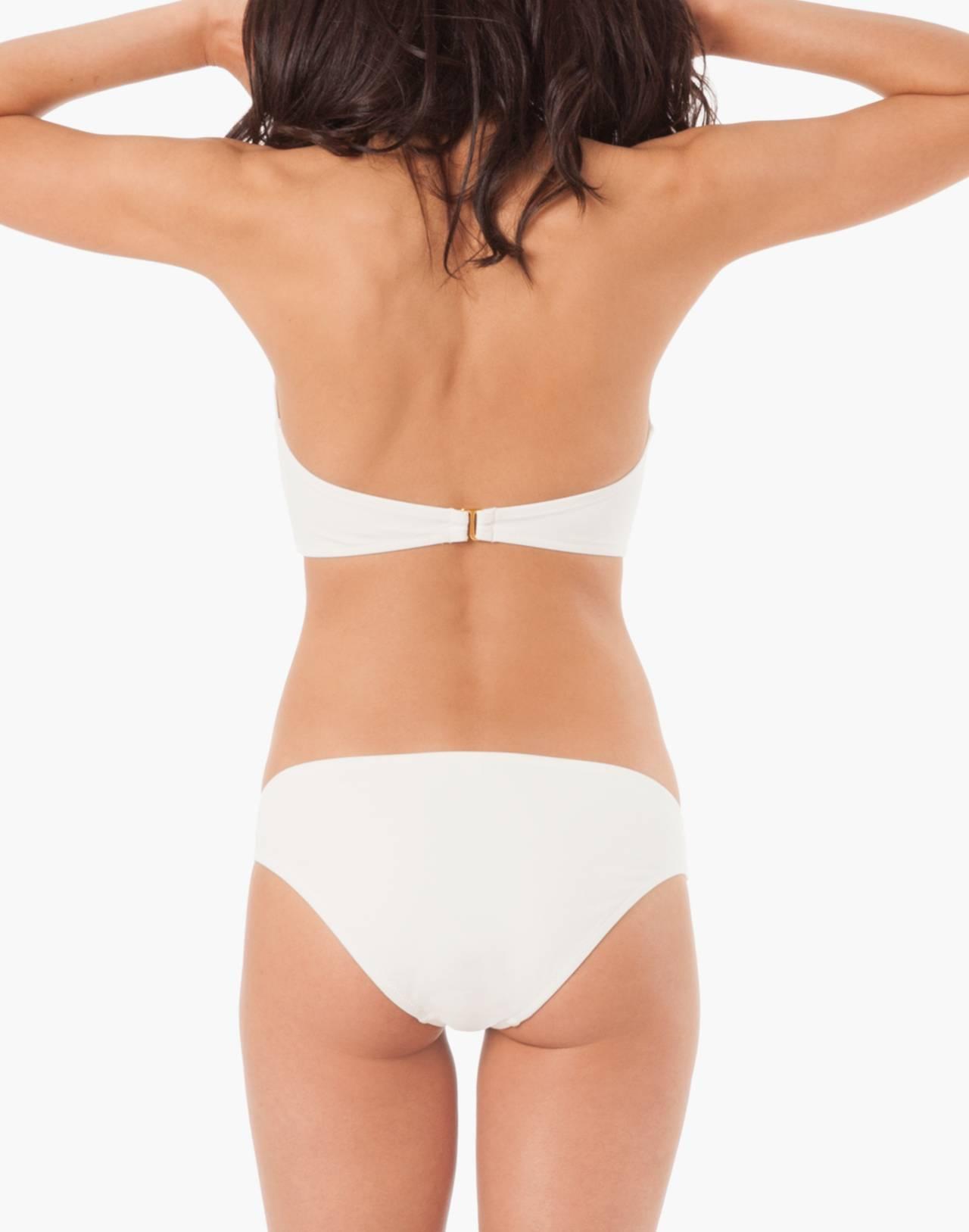 LIVELY™ Bandeau Bikini Top in white image 2