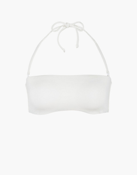 LIVELY™ Bandeau Bikini Top in white image 3