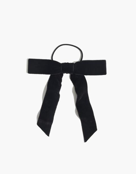 Velvet Bow Hair Tie in true black image 1 ef3b07920b8