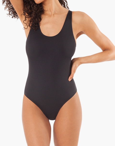 LIVELY™ Tank One-Piece Swimsuit in white image 1