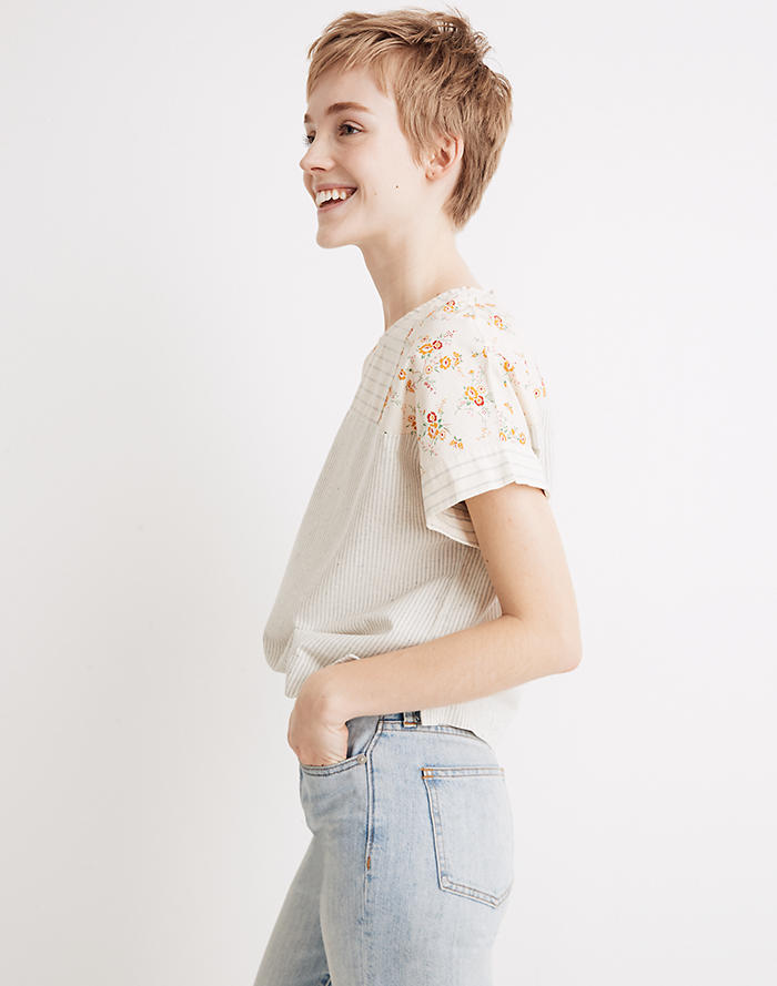 Madewell x The New Denim Project® Patchwork Top ba215b739a23