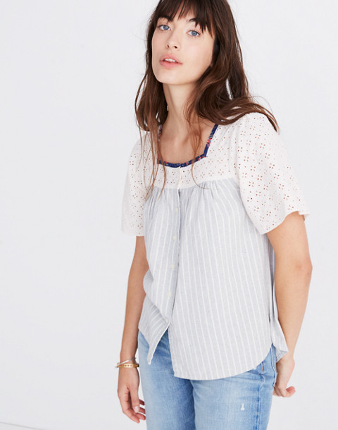 Madewell X The New Denim Project® Patchwork Butterfly Top by Madewell