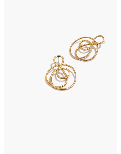 Treble Twist Earrings in vintage gold image 1