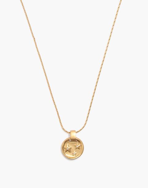 Star Sparkle Necklace in vintage gold image 1