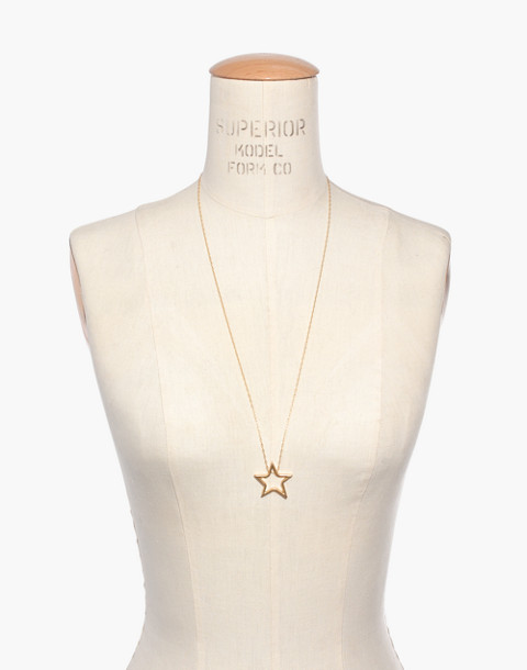 Night Star Necklace in vintage gold image 3