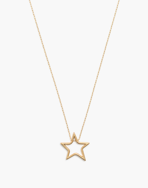 Night Star Necklace in vintage gold image 1