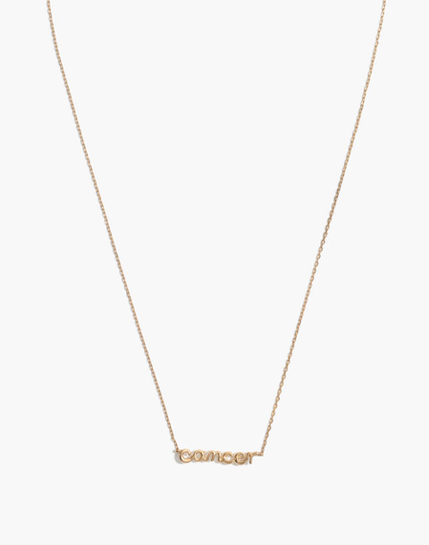 Vermeil Astrological Sign Necklace in cancer image 1