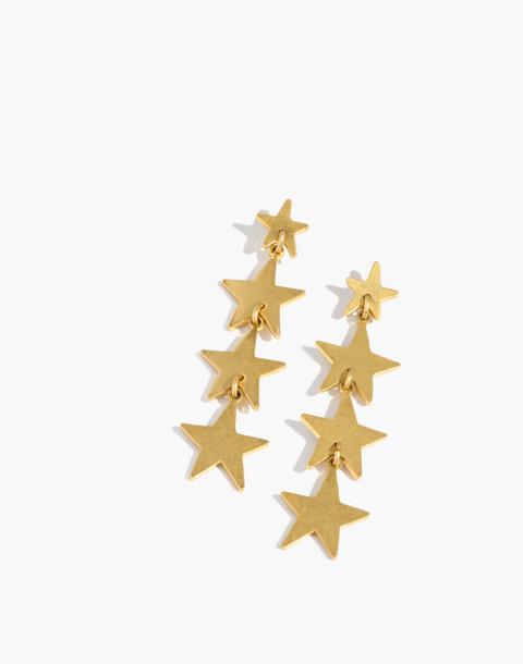 Star Drop Earrings in vintage gold image 1