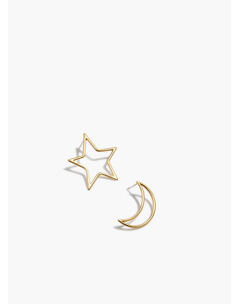 Star And Moon Statement Earrings by Madewell