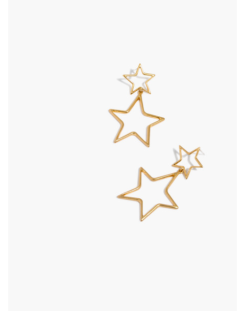 Night Star Statement Earrings in vintage gold image 1