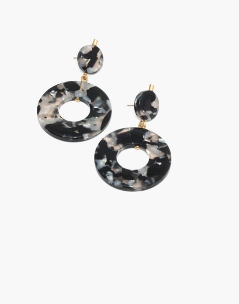 Circle Statement Earrings in smokey tort image 1
