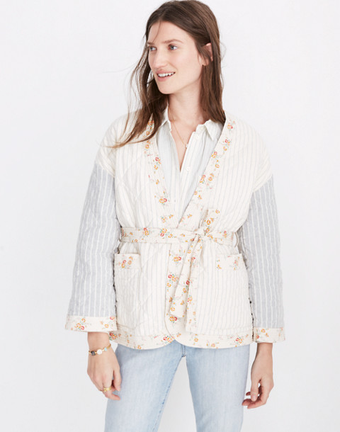 Madewell X The New Denim Project® Patchwork Wrap Jacket by Madewell