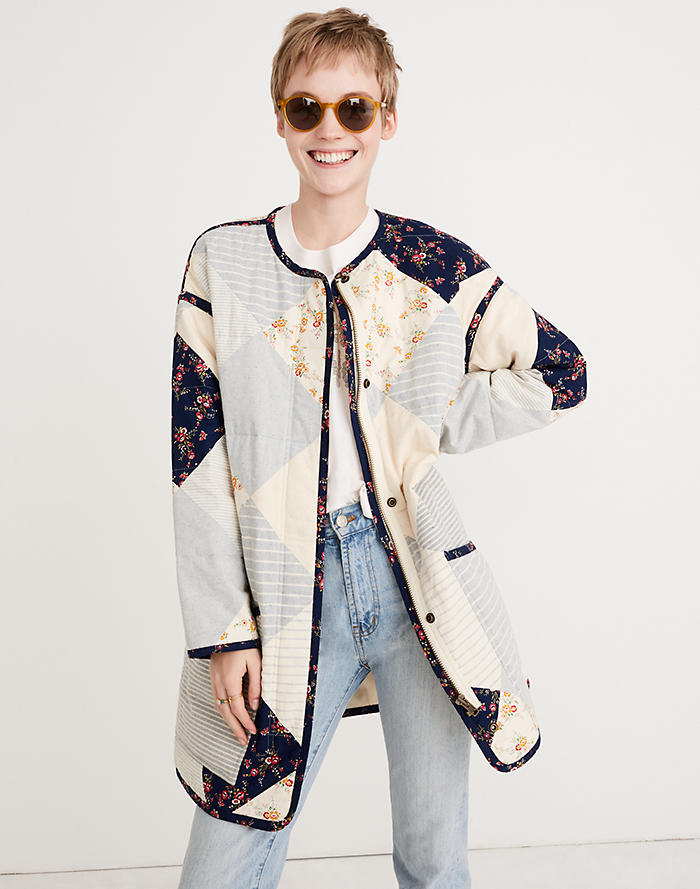 d7b7359f25 Madewell x The New Denim Project® Patchwork Cocoon Coat