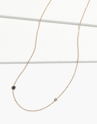 Madewell x Still House™ 14k Gold Iba Blue Sapphire and White Diamond Necklace in white diamond/sapphire image 1