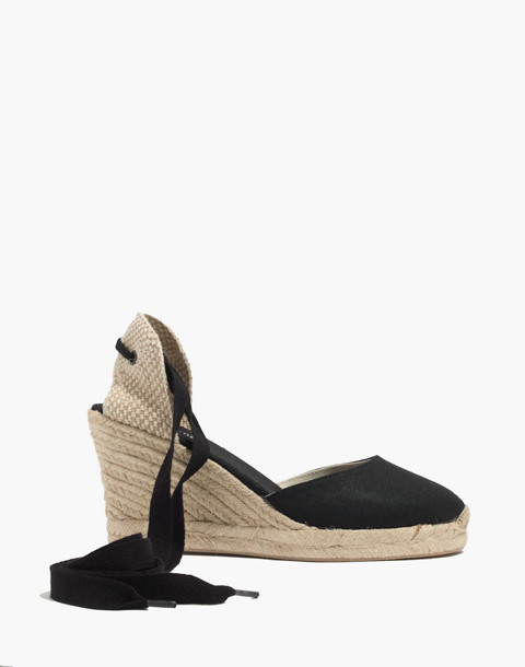 Soludos® Lace-Up Tall Wedge Espadrilles in black image 2