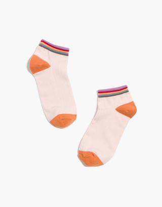 Rainbow Anklet Socks in vintage linen multi image 1