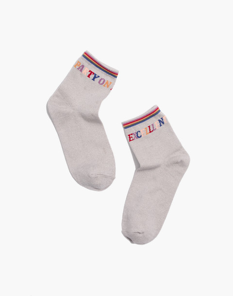 Party On Ankle Socks in steel multi image 1
