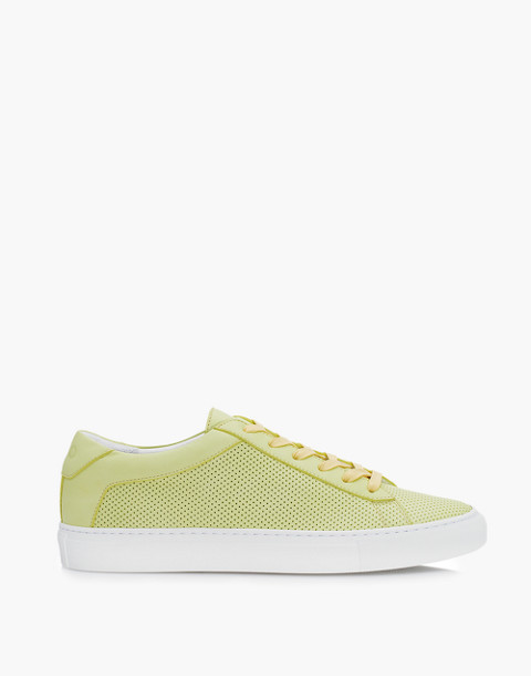 Unisex Koio Capri Lemon Perforated Sneakers in Yellow Leather