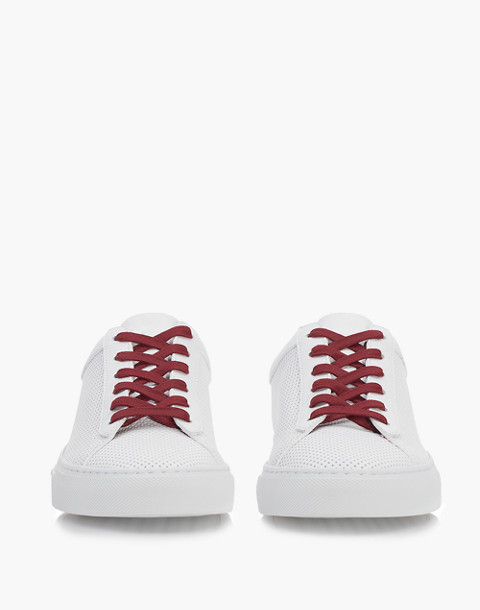 Unisex Koio Capri Chili Perforated Sneakers in White Leather in white image 2