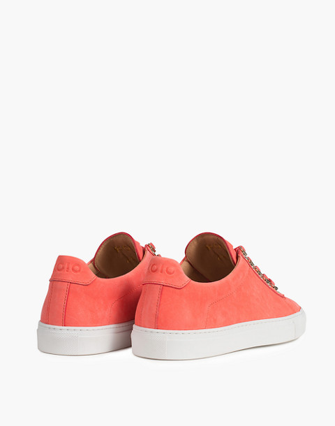 Unisex Koio Gavia Albicocca Low-Top Sneakers in Apricot Leather