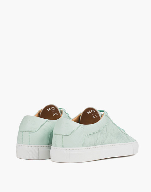 Unisex Koio Capri Acqua Low-Top Sneakers in Ocean Blue Leather in blue image 3