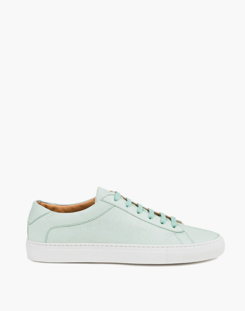 Unisex Koio Capri Acqua Low-Top Sneakers in Ocean Blue Leather in blue image 4