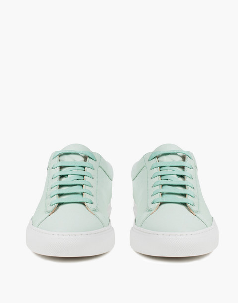 Unisex Koio Capri Acqua Low-Top Sneakers in Ocean Blue Leather in blue image 2