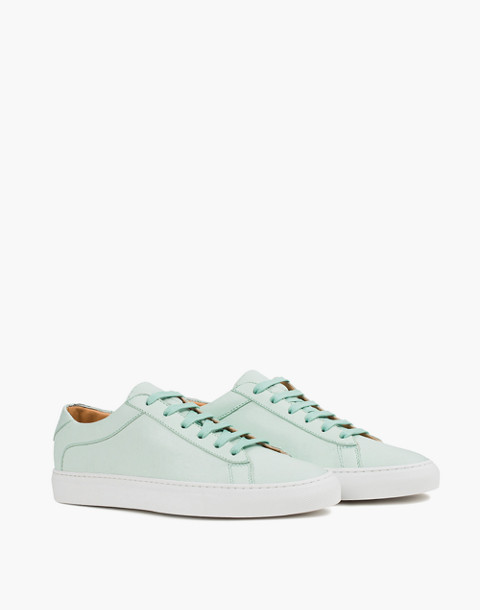 Unisex Koio Capri Acqua Low-Top Sneakers in Ocean Blue Leather in blue image 1