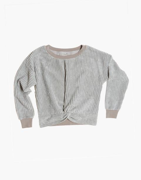 The Odells™ Velour Twist-Front Sweatshirt