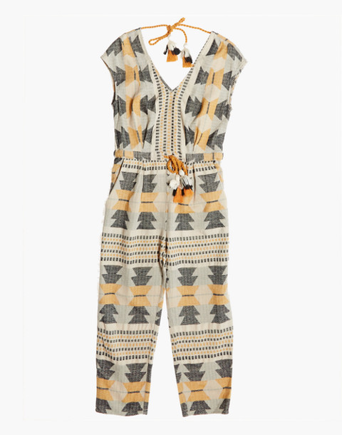 The Odells™ Jacquard Studio Jumpsuit in patterned circle image 3